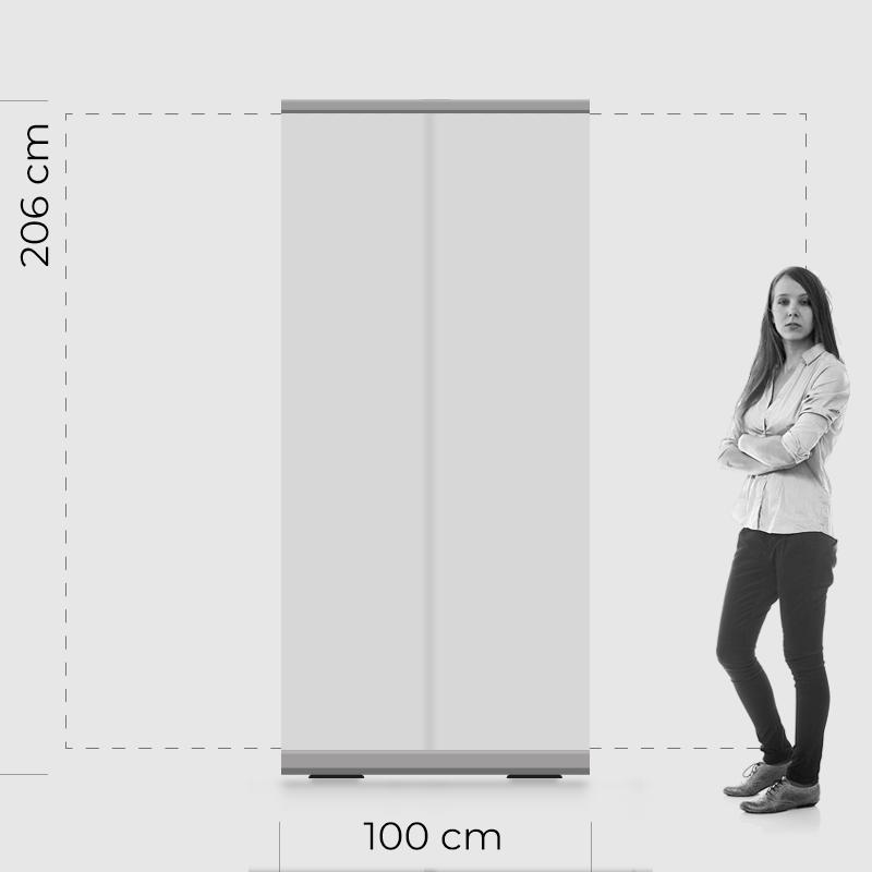 rollup 100 transparente